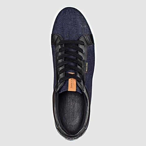 Homme Jack & Jones Sable Denim Sneaker Chaussures Baskets pompes à rabat