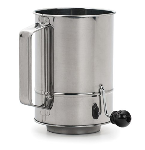 RSVP International SIFT-5CR RSVP Endurance Stainless Steel Crank Style Flour Sifter, 5-Cup, Silver