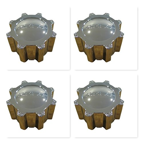 4 Pack Helo 801 804 Rhino 133K83B Chrome Center Cap 6 Lug