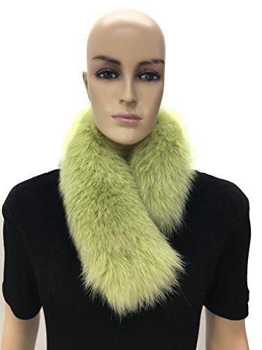 HIMA 100% Real Fox Fur Headband (Green) (Green Fox Fur Headband)