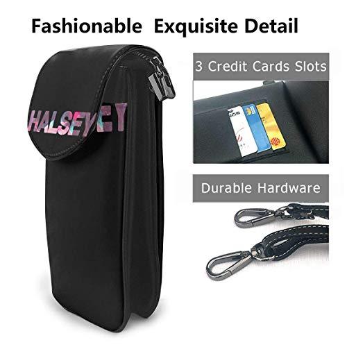 HYJUK Mobiltelefon crossbody väska halsey liten crossbody mobiltelefon handväska PU mini messenger axelväska plånbok för kvinnor