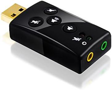 CSL - Tarjeta de Sonido USB 7,1 Externa, Sonido 3D ...