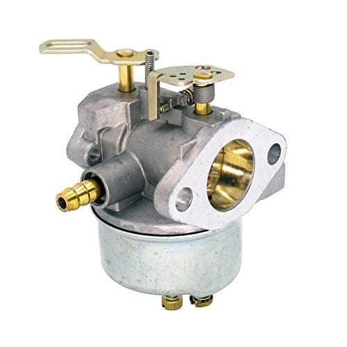 NIMTEK Carburetor with Fuel Shut Off Valve Spark Plug Fuel Filter for John Deere Snowblowers TRS22 TRS26 TRS27 TRS32 Carb