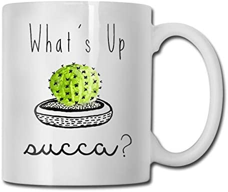 What's Up Cactus Funny Coffee Mug - 11 Ceramic Coffee Cup - Best Gifts Idea for Christmas, Valentine and Birthday, Father's Day and Mother's Day Cup