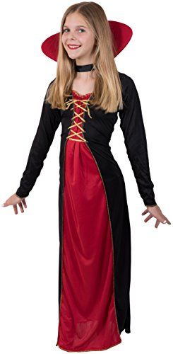 Kangaroo's Halloween Costumes - Victorian Vampire Costume, Youth Medium 8-10 - Victorian Vampiress Halloween Costume