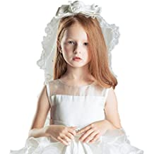 Girls White Bow First Communion Veil Crown Multi Layer Veil