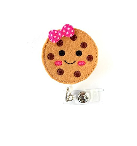 Colleen the Cookie  Retractable ID Badge Holder  Name Badge Holder  Cute Badge Reel  Nursing Badge  Fun Badge Holder  Felt Badge Reel