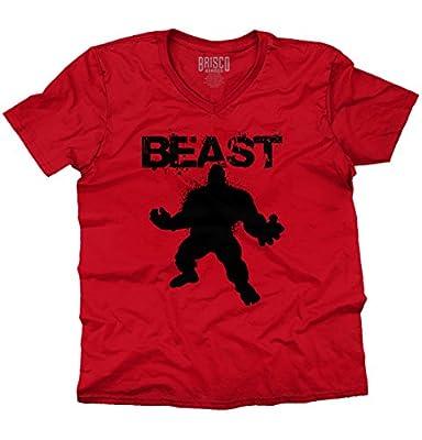 BEAST - Mode Workout T-Shirt Gym Fitness Muscle Bodybuilding V-Neck T-Shirt