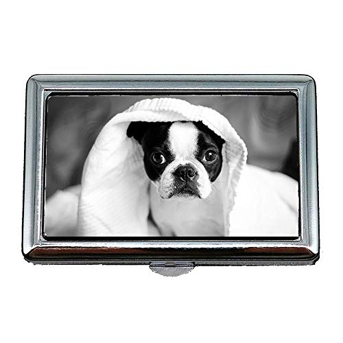 Case Pet Case19 Case Card Chien Porte Holder Animal Mignon Adorable Canin cartes Inoxydable Puppy Cigarette Sleep Business 046nwxaw