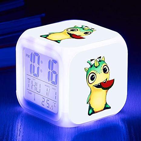 jiangying store Animación Colorida del Reloj de Alarma LED ...
