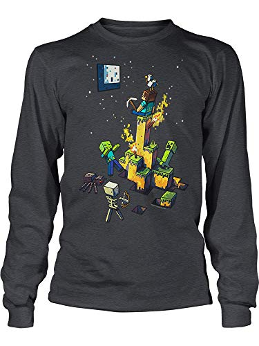 JINX Minecraft Big Boys Tight Spot Long-Sleeve Premium Cotton T-Shirt