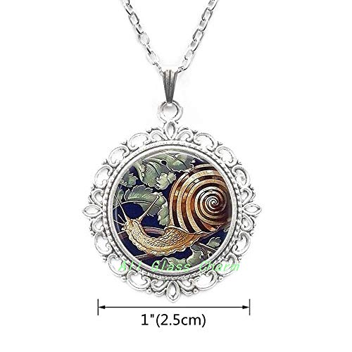 - AllGlassCharm Garden Snail-Gardener Gift-Garden Snail Necklace-Snail Pendant-Snail Jewelry-Escargot-Snail Shell,AS0204