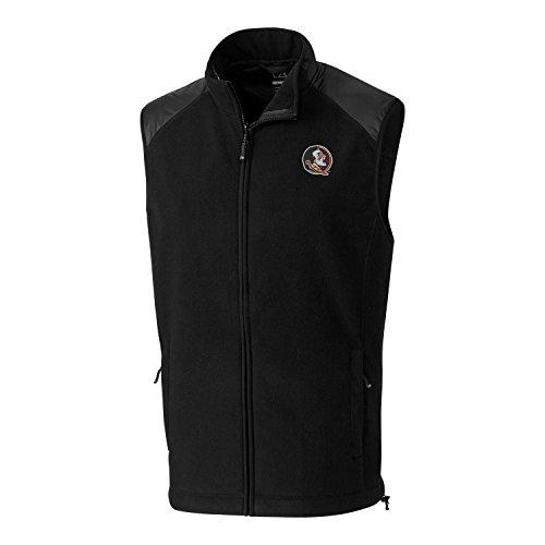 Cutter & Buck NCAA Florida State Seminoles Adult Men Cedar Park Full Zip Vest, Large, Black ()