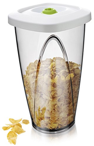 (Vacu Vin Food Vacuum Storage Container - Large, 2.30 Liter, White)