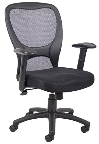 (Boss Office Products B6508 Budget Mesh Task Chair in Black)