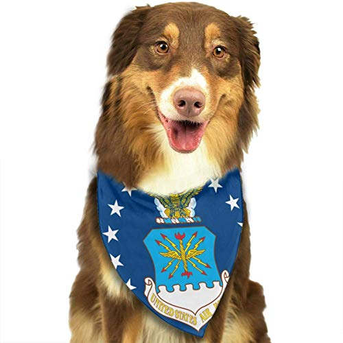 Dog Bandana Flag of The United States Air Force Triangle Bibs Scarf Printing Kerchief Set Accessories Dogs Cats Pets -