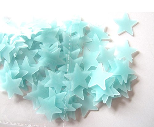 Wall Stickers,Laimeng,100PC Kids Bedroom Fluorescent Glow In The Dark Stars Home Decal (Blue)