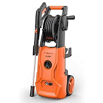 Image of AIPER Electric Power Washer 2150 PSI 1.85 GPM Electric Pressure Washer Cleaner Machine with Long Hose, Hose Reel, Adjustable Nozzle and Spray Gun Home Improvements