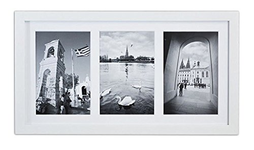 Golden State Art, 8.5x16.3 White Photo Wood Collage Frame wi