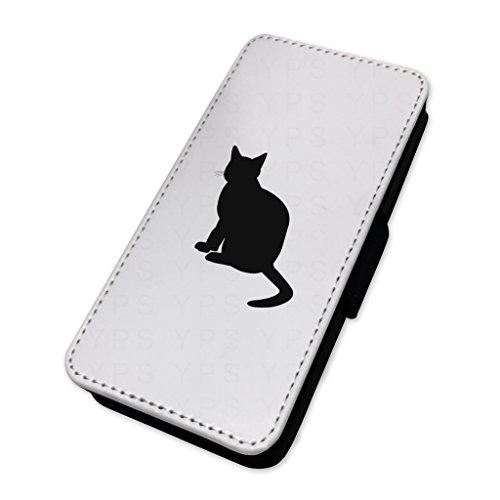 Cat silhouette–Custodia ad aletta in pelle copertura di carta Apple Iphone 7 Plus