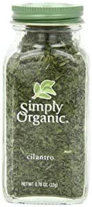 Simply Organic Cilantro Certified Organic, 0.78-Ounce Container