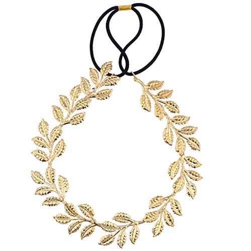 Lux Accessories Goldtone Goddess Leaf Head wrap]()