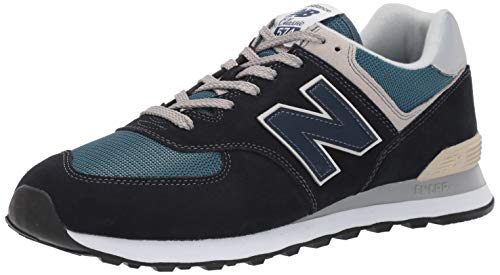 (New Balance Men's Iconic 574 Sneaker, Dark Navy/marred Blue, 7.5 D US)