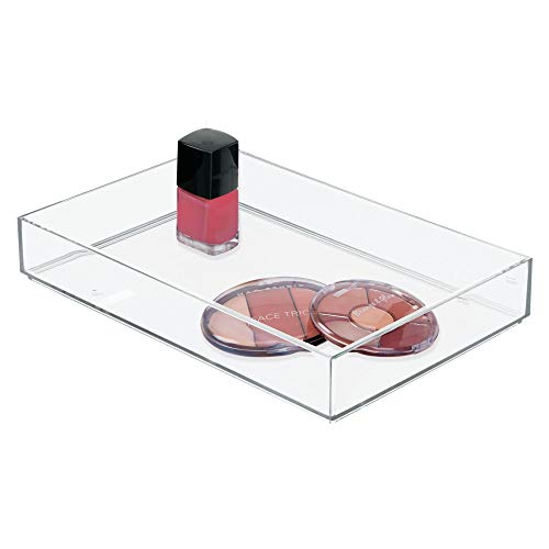 InterDesign Clarity Plastic Drawer Organizer, Storage Container for Cosmetics, Makeup, and Accessories on Vanity, Countertop, Bathroom, or Cabinet, 8