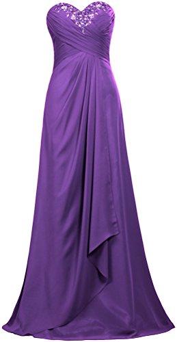 Robes Longues De Bal Unique Fourmis Femmes Robe De Soirée En Mousseline De Soie Pourpre