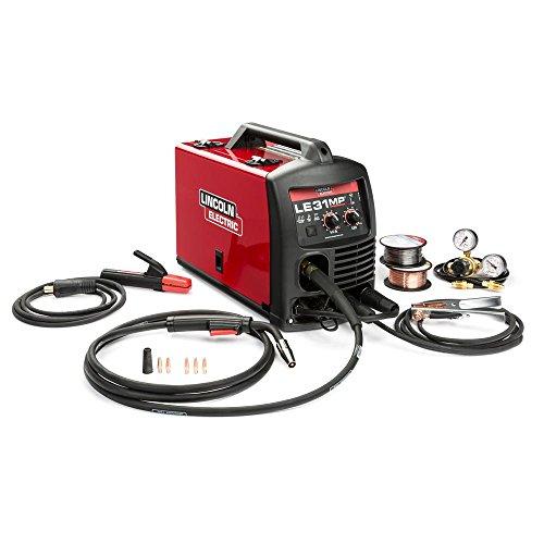 Best Lincoln Electric LE31MP MIG Welder with Multi Processes - Transformer, MIG, Flux-Cored, Arc and TIG, 120V, 80-140 Amp Output, Model Number K3461-1