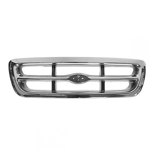00 Ford Pickup (Chrome & Dark Argent Grille Front End Grill for 98-00 Ford Ranger Pickup Truck)