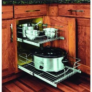 Rev-A-Shelf 2-Tier Pull-Out Cabinet Organizer ()