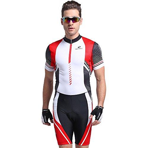 NUCKILY Summer Triathlon Suit Short Sleeve Cycling Skinsuit For Men/Women X-Large