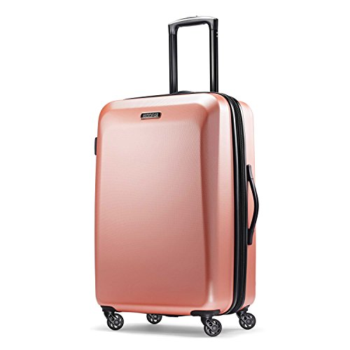 (American Tourister Checked-Medium, Rose Gold)