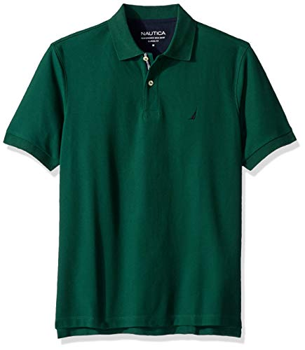 Nautica Men's Classic Short Sleeve Solid Polo Shirt, Tidal Green, XX-Large