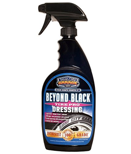 Surf City Garage 24 oz 104 Beyond Black Tire Dressing 24oz - Water -Based, Natural Low Shine Clean Finish, Non Greasy - Won't Attract Dust, Extreme Protection from UV Rays (Best Tire Dressing Product)