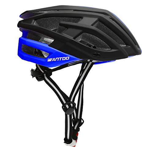 Wantdo Ultralight Cycling Helmet,23 Air Vents MTB Road Bicycle Helmet with Detachable Liner and Adjustable Strap for Adult Women and Men Mountain BMX Bike Helmet Black Blue For Sale