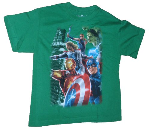 Marvel Comics Avengers Hulk Thor Green Graphic T-Shirt - 2XL 18