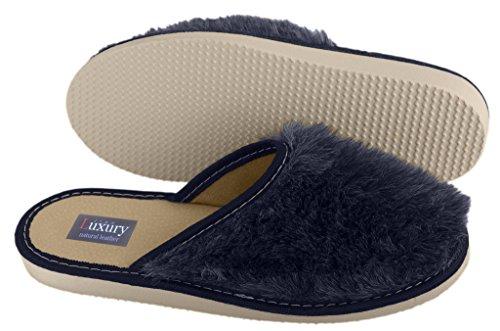 Luxury Line , Damen Hausschuhe Grau