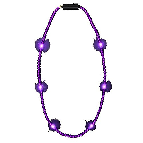 Flashing Light Up LED Bead Necklace - Available in 6 colors! PERFECT for Minnesota Vikings and Mardi Gras! - July In Holidays Strange