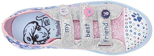 pink blue Zapatillas paw Skechers Para Party Shuffles Niñas Azul 0t8x8Tqw