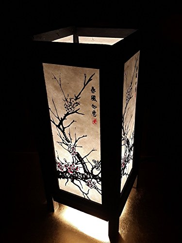 Blossom Chandelier 11 Light (Ayutthaya Shop Asian Oriental Japanese Sakura Cherry Blossom Tree Branch Art Bedside Table Lamp 11