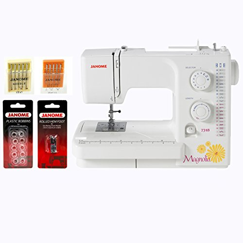 (Janome Magnolia 7318 Sewing Machine w/FREE! 4-Piece V.I.P Reward Package)