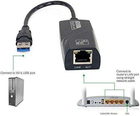 10//100//1000 Mbps Netzwerkadapter Schwarz ArgoBear USB 3.0 Gigabit Ethernet Ethernet Karte USB zu RJ45 Ethernet LAN RJ45