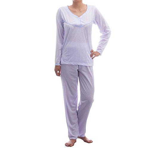 Lucky - Pijama - Básico - Manga Larga - para mujer Flieder