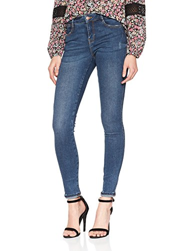 Blue Pieces Medium Denim Blue Skinny Denim Medium Femme Jean Bleu XvAqXr