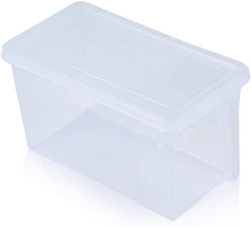 Axiba Cajas de almacenaje Refrigerador de Almacenamiento Caja plástico Fruta verdura con Almacenamiento de información de Tapa Caja Cocina Almacenamiento Caja 31 * 15 * 16 cm: Amazon.es: Hogar