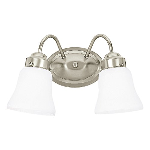 Sea Gull Lighting 44019-962 Westmont Two-Light Bath or Wall Light Fixture with - Finish Bathroom Mirrors Nickel