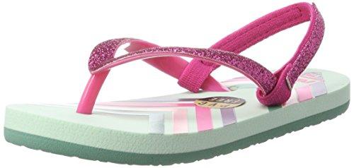 Reef Girls' Little Stargazer Prints Sandal, Mint Chevron, 7-8 M US Toddler