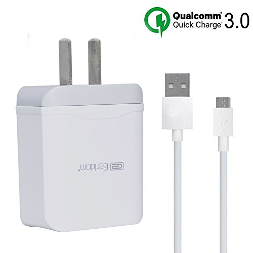 Samsung Galaxy S6 S7 Edge Plus Active Charger Earldom  Quick Charge 3 0  Rapid Fast Usb Travel Wall Charger With Micro Usb Cable For Galaxy S6  S7 Note 5 4 Nexus 7 6 5 Htc Lg Sony And More